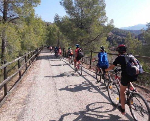 Grupo escolar ciclismo